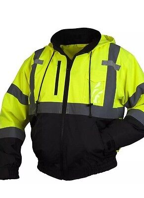 HiVis Pyramex RJ3111 Class 3111 Safety Jacket with Zipout Liner XL 2nd one FREE