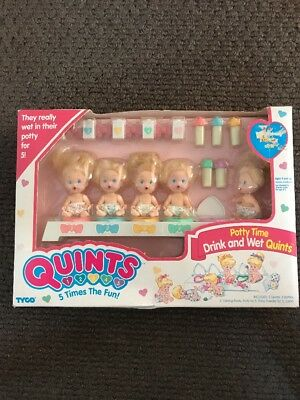 Quints Dolls.  Potty Time, Drink And Wet Quints - New In Box