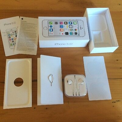 iPhone 5 s 16gb Silver Empty box and accessories