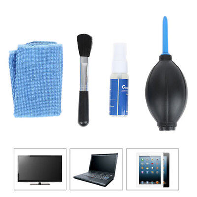 4Pcs Screen Cleaning Kit For LCD TV LED PC Monitor Laptop Tablet Len Cleaner New