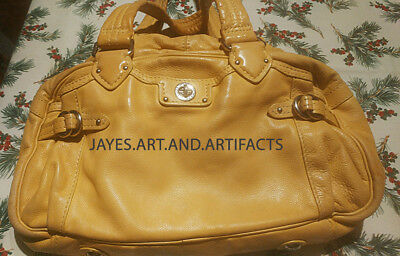 Marc Jacobs Soft Yellow Quinn Bag Tote Doctor's Kid Leather Excellent Condition