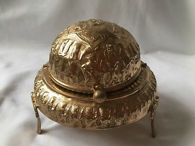 Vintage Roll Middle Eastern or Persian Domed  Butter / Caviar Dish