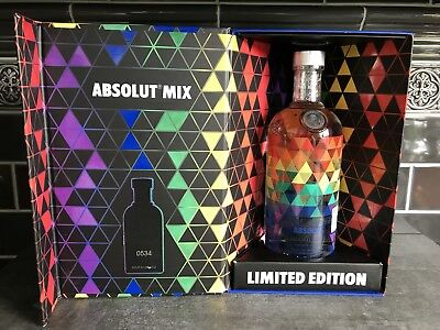 Absolut Vodka Mix 750 Ml + Box Mexico # 534 * Limited Edition 2016 * New Sealed