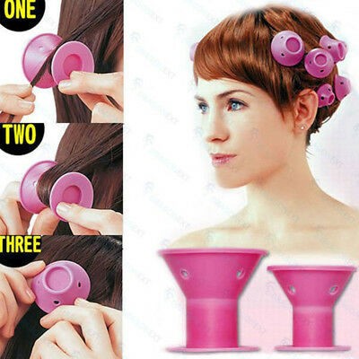 10PCS Soft Rubber Hair Care DIY Roll Style Roller Hair Curler Styling Tool