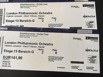 2 tickets elbphilharmonie hamburg london philharmonic. Black Bedroom Furniture Sets. Home Design Ideas