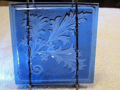 ANTIQUE ADDISON WINDOW PANE PRESSED GLASS stained NEW YORK