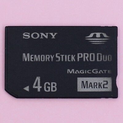 GENUINE SONY 4GB Sony Memory Stick PRO Duo Mark 2 MS Memory Card for PSP