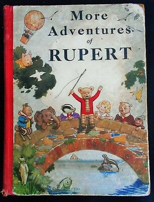 RARE 1st EDITION VINTAGE ORIGINAL 1937 RUPERT BEAR ANNUAL