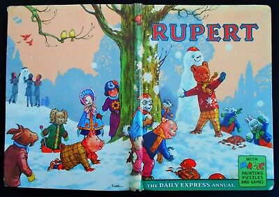 Vintage Original 1962 Rupert Bear Annual