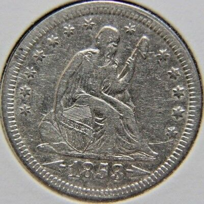 1853 25C Arrows and Rays Liberty Seated Quarter - Lot # QLS 172