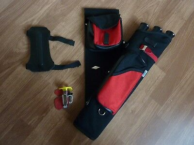 Neet x 3 tube Archery Quiver and accessories