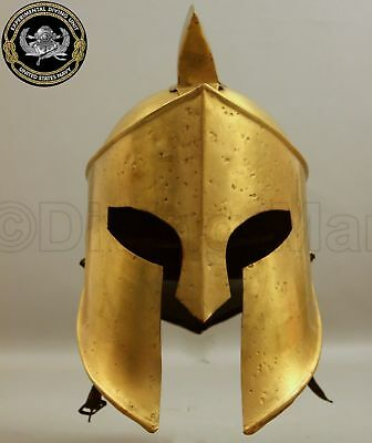 King Spartan 300 Movie Helmet Brass Re-Enactment Militaria Roleplay Item