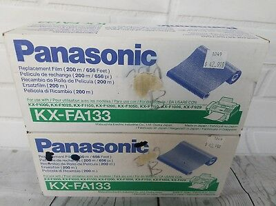 Panasonic Kx-Fa133 Replacement Film Lot Of 2 Sealed Brand New