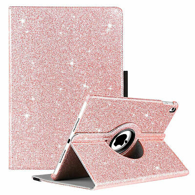 Glitter 360°Leather Rotating Smart Stand Case Cover For APPLE iPad Air,2/3/4,5/6