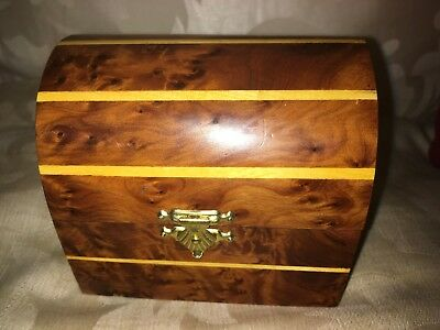 Wooden Casket/Box,a Lovely Burr Walnut Box of Small Chest Form
