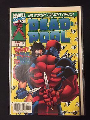 Deadpool #8 (1997) Typhoid Mary! Epic fight. Early Deadpool NM