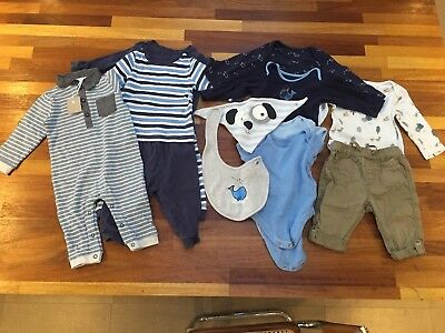 Baby boy clothes bundle age 6-9 months. M & S, TU and George. 13 items.