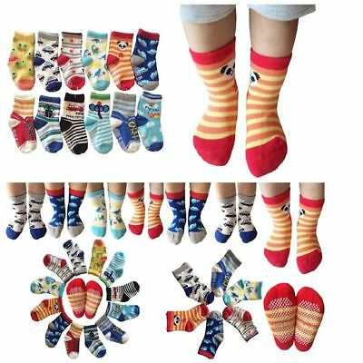 6 Pairs Assorted Non-Skid Ankle Cotton Socks with Grip for 12-36 Months Baby NEW
