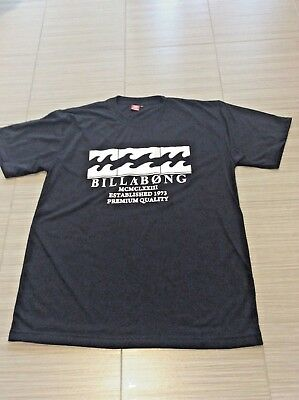 T Shirt - Mens Billabong - Size Large, Colour Black with White Print