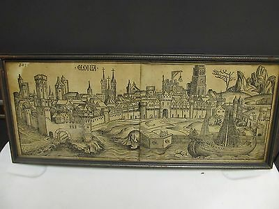 Nuremberg Chronicle Cityscape_Original Block Print_Rare_Cologne, Germany_15th C