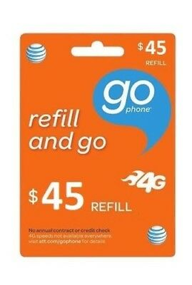AT&T $45 Refill -- Loaded Directly.