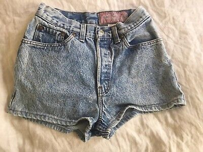 Vintage Levis Daisy Duke Jean Shorts Size 9 Faded Stone Washed 26 Waist