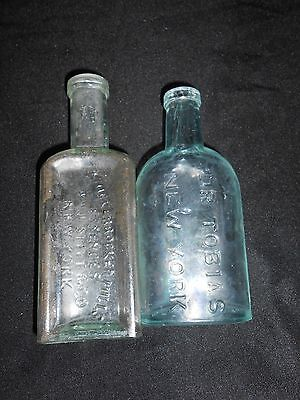 Lot of 2 N.Y. Medicine Bottles,Dr Tobias,Knickerbocker(VINTAGE,FREE SHIPPING)