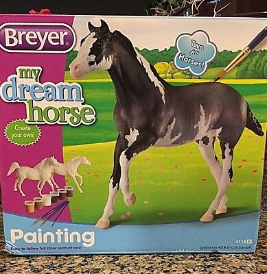 "Ho, ho, ho! BREYER ""My Dream Horse"" Painting Kit Unpainted #4114"