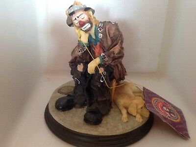 Flambro Emmett Kelly Jr. Real Signature signed by him at a signing Clown in 1994