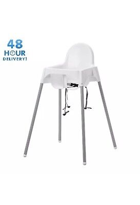 Baby Highchair with Safety straps IKEA ANTIILOP Baby high chair White Plastic