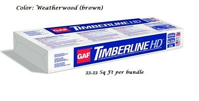 GAF Timberline High Definition Lifetime Laminated Asphalt Shingles (8 Bundles)