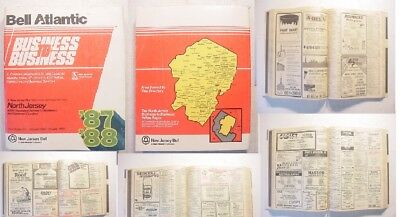 1987 No NJ BELL TELEPHONE DIRECTORY PHONE BOOK BUSINESS Passaic Morris Somerset