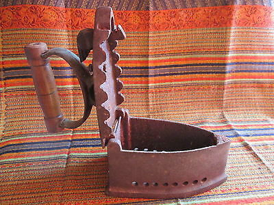 Vintage Antique Rare Ancient Old Iron Coal Powered Authentic 18 Century Ironing