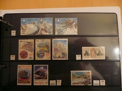 Nepal stamp collection - Everest - mint / fine used - good lot better noted