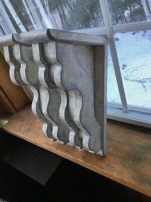 Set Of 2 Rustic victorian wood corbels med.