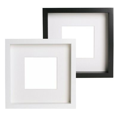 ikea ribba photo picture frame black white mount 50x50cm. Black Bedroom Furniture Sets. Home Design Ideas