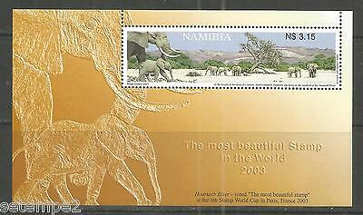 Namibia 2003 - Elefanten im Bett des Hoarusib-Flusses Most beautiful stamp
