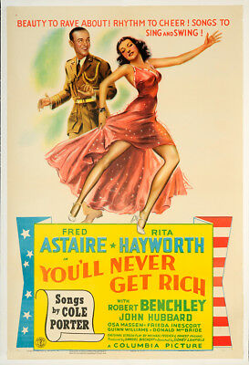 You'll Never Get Rich 1941 27x41 Orig Movie Poster FFF-65226 Rolled Very Fine