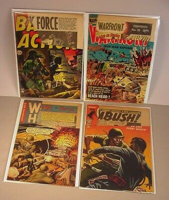 1950's War  Comics 4 Comic Books Military theme  Cut covers  Lot #1