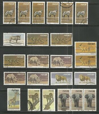 South West Africa now Namibia  - Animals up to 2 R Elephant (x) - see scans