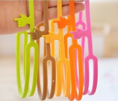 Silicone Finger Point Convenient Bookmark Highlighter Office In Green