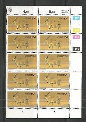 South West Africa  -  Elenantilope - Block of 12 - 16.09.1987 reprint