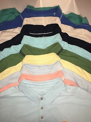 tommy bahama xxl 2xl All Colors Lot Of 10 Polo Shirts Short Sleeve