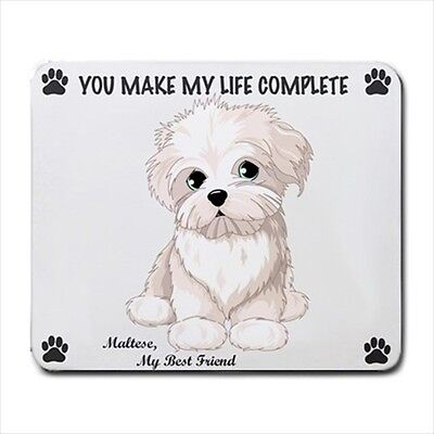 New Design Cute Adorable MALTESE Anime Dog Puppy Rubber Computer MOUSE PAD Mat