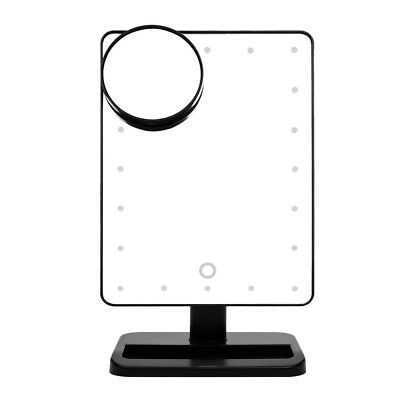 20 LED Light Touch Screen Make-up Mirror Cosmetic Stand Mirror 10X Magnifyi J8G7