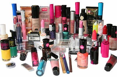 66 Wholesale Joblot Makeup Items Rimell, Maxfactor, NYC, Collection, Boots, etc.