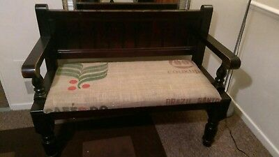 Pair of 2 seater solid wood pews-benches-settles