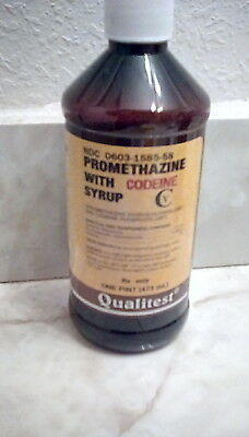 EMPTY Promethazine with Codeine  Cough Syrup bottle (FREE SHIPPING to USA)