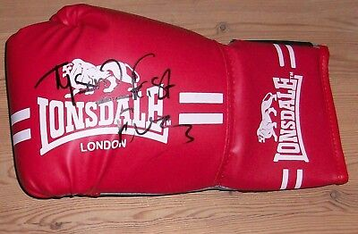 Tyson Fury signed boxing glove with original authentic autograph