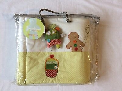 Mamas and Papas Gingerbread Cot Bumper With Rattle Toy Nursery